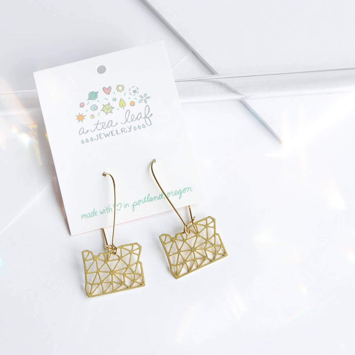 Oregon Geometric Earrings Gold
