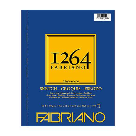1264 Fabriano Sketch Spiral Bound 100 Sheets