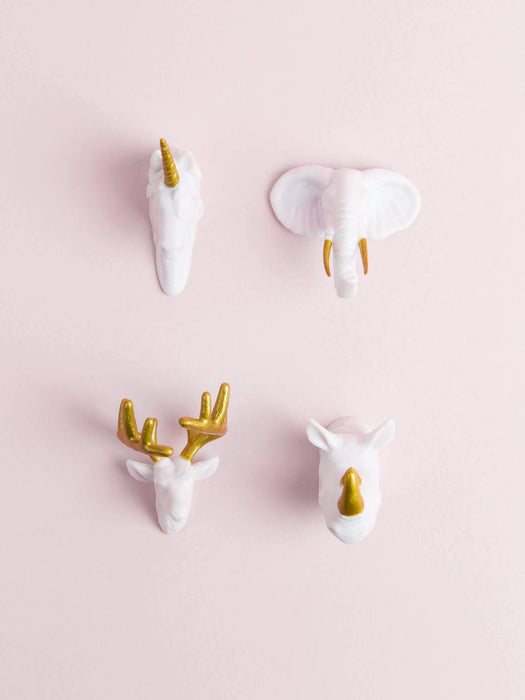 Wild Animal Head Magnets - Set of 4