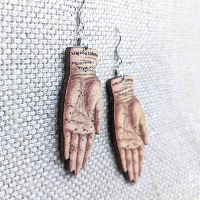 Palm Reader Hand Earrings - Halloween Earrings