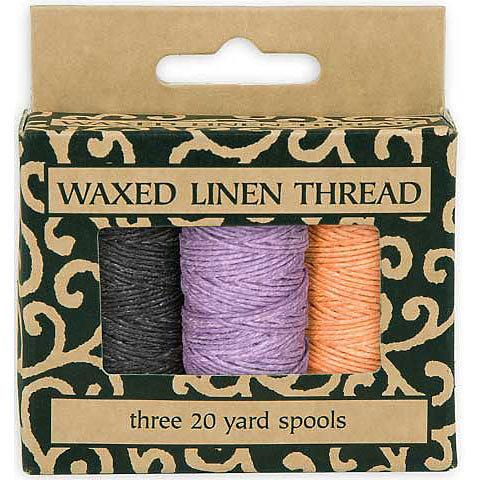 Linen Thread Waxed 3 Color Pk
