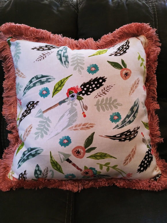 Multi Color Floral Arrow Pillow