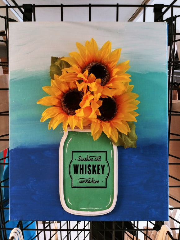 3D Sunflower Canvas Art