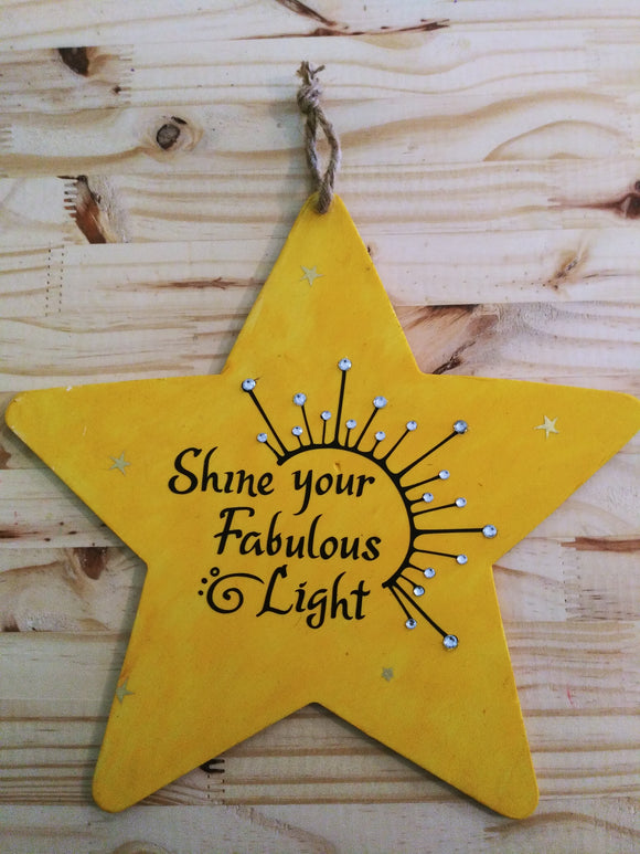 Hanging Wood Star Signs