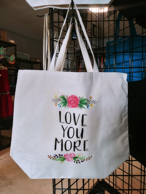 Love You More Canvas Bag