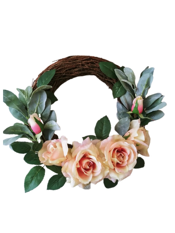 Rose Grape Vine Wreath