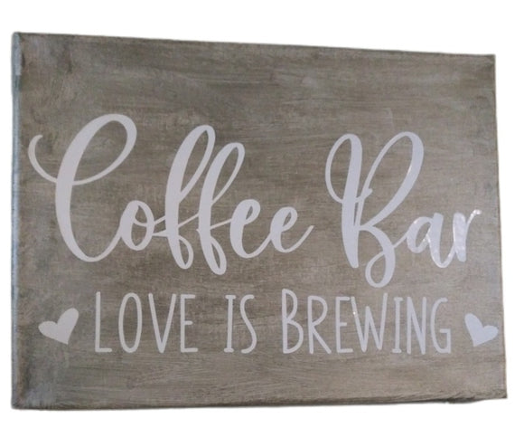 Coffee Bar Canvas