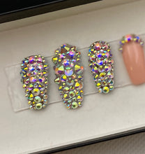 Load image into Gallery viewer, 2 Full Bling Accent press on nails