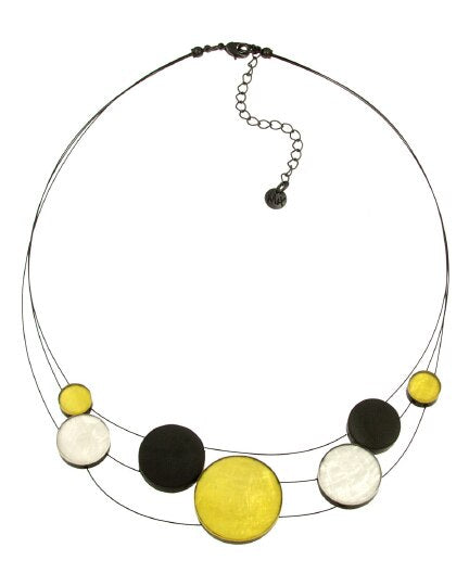Necklace Multi Strand Disc