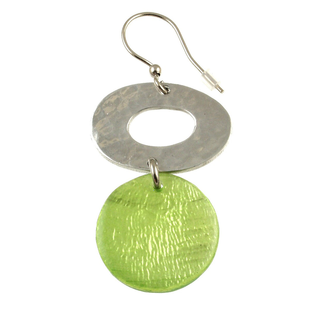 Resin and Aluminum Earring 5224