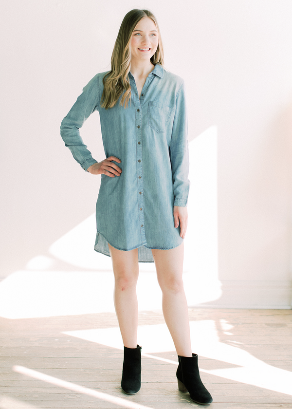 Aubrey Denim Shirt Dress
