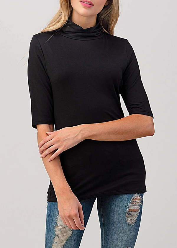 Brielle Mock Neck Top