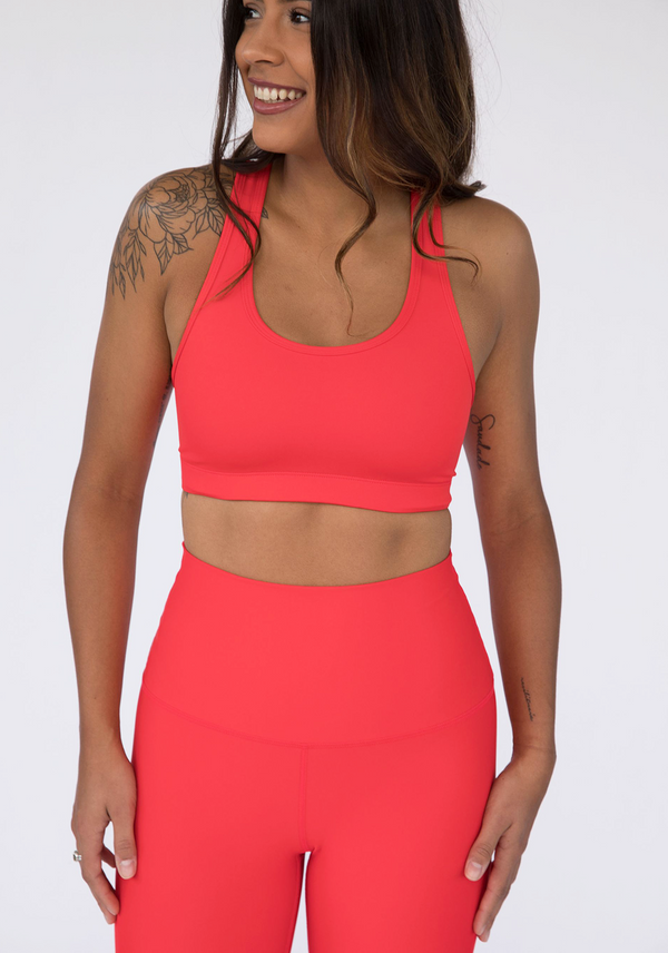 Candy Apple Red Butter Soft Sports Bra