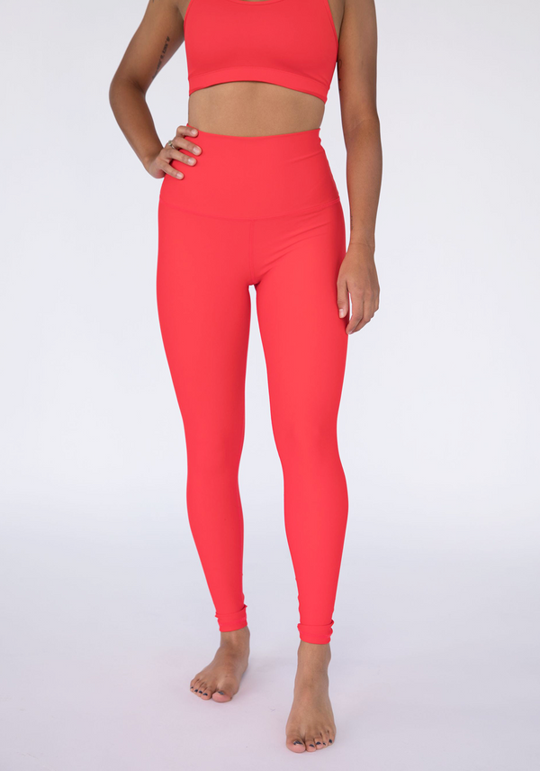 Candy Apple Red High Waisted Butter Soft Leggings