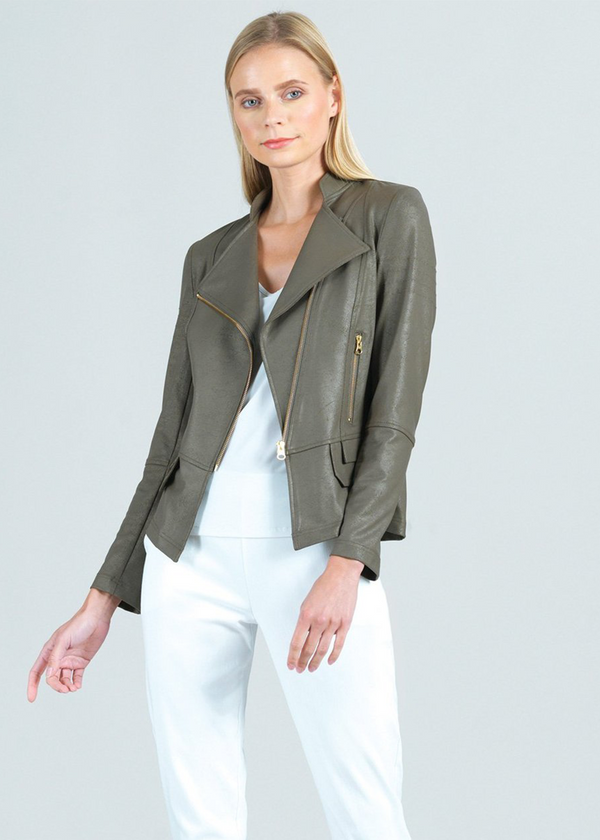 Victoria Liquid Leather Knit Jacket