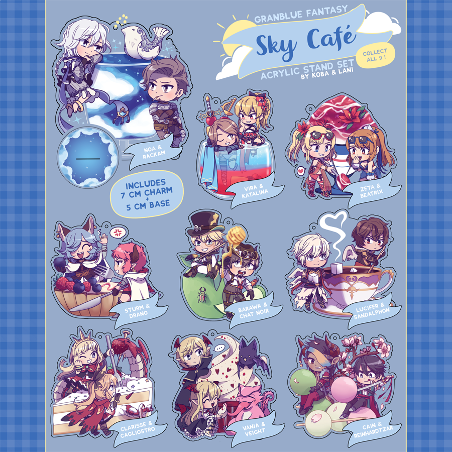 [GBF] Sky Cafe Acrylic Standees