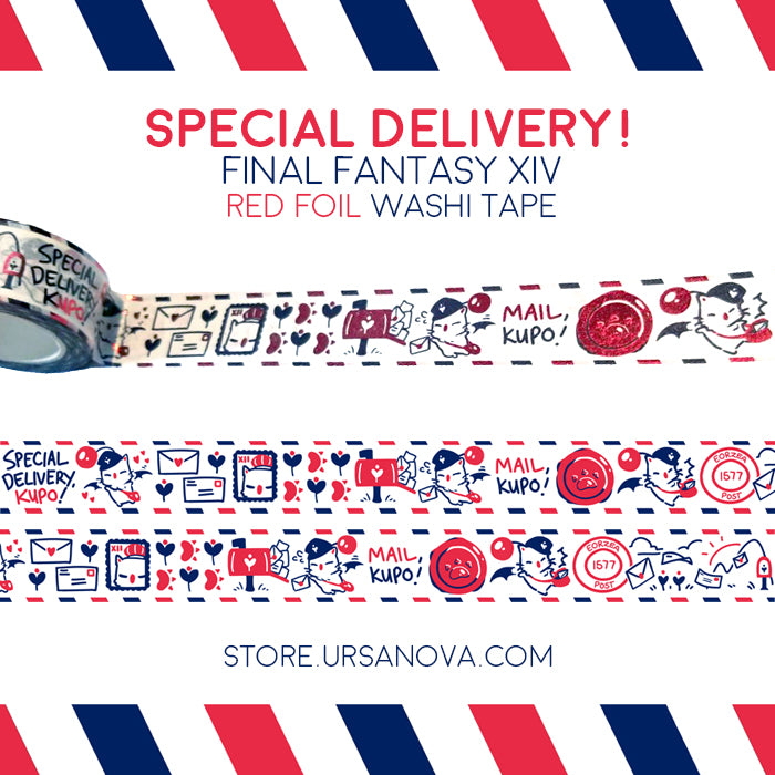 [FFXIV] Special Delivery! Red Foil Washi Tape