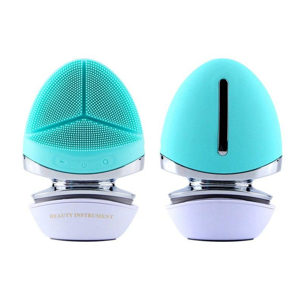 Microcurrent Face Lifting Cleaner Machine Massage Device Silicone Facial Cleansing Brush Massager Skin Care Beauty Tool - Fedepot