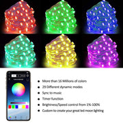 App Remote Control Christmas LED String Light