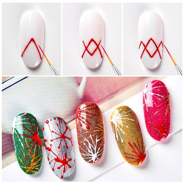 Eco-Friendly Luminous Spider Nail Gel Set 12 Colors