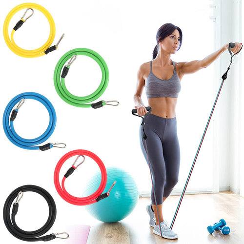 11 Pcs Fitness Pull Rope Latex Resistance Bands_2