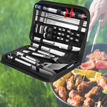 Load image into Gallery viewer, 30Pcs Stainless Steel Barbecue Tool Set and Cooking Tools for Outdoor Camping_11