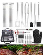 Load image into Gallery viewer, 30Pcs Stainless Steel Barbecue Tool Set And Cooking Tools For Outdoor Camping Wefullfill