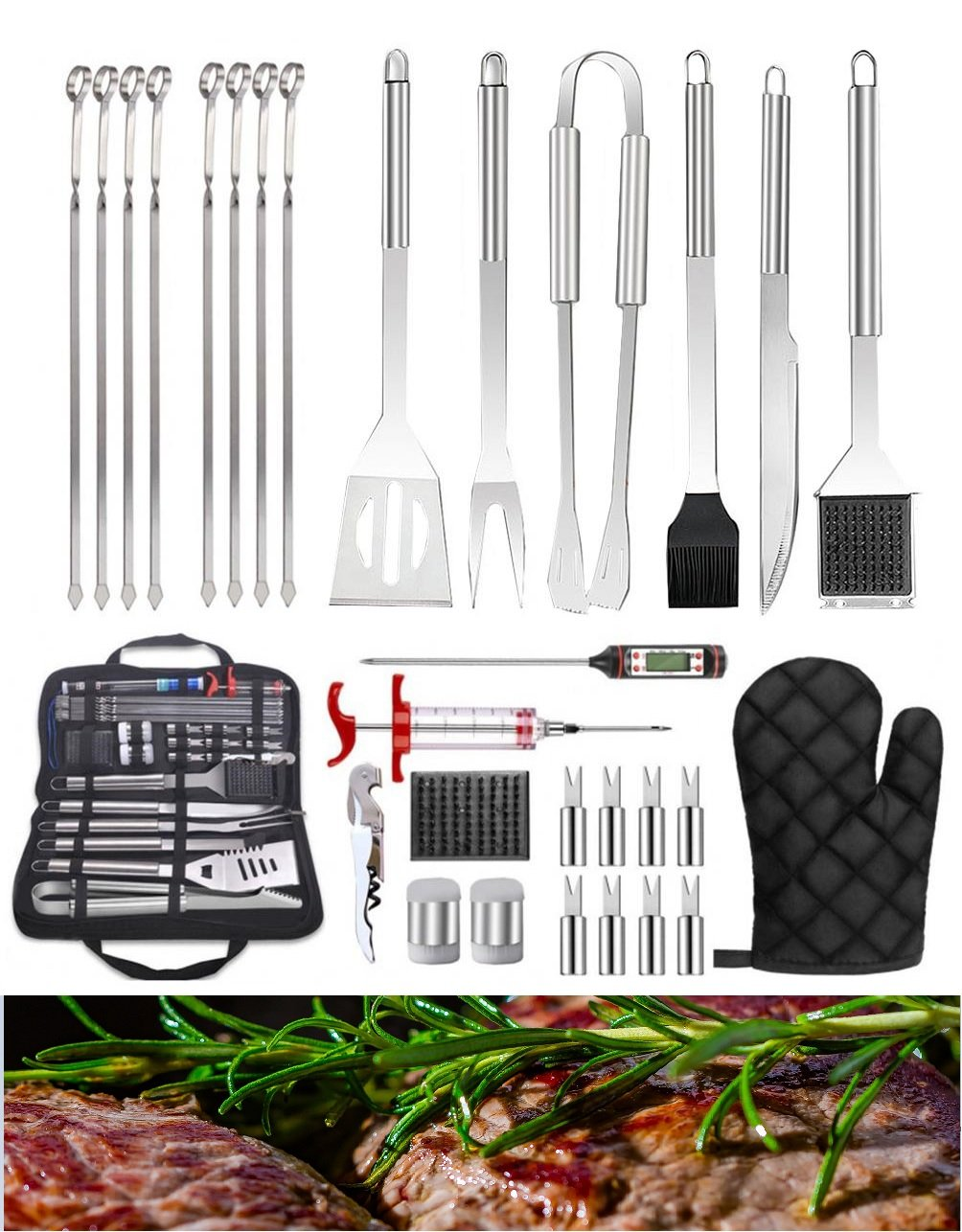 30Pcs Stainless Steel Barbecue Tool Set And Cooking Tools For Outdoor Camping Wefullfill