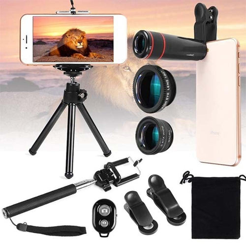 10 in 1 Kit 180 degree Fisheye Lens 0.65 Wide Angle Lens 12x Magnifying for Mobile Phones_13