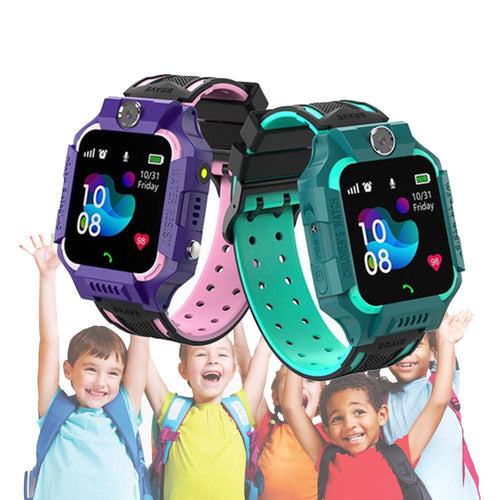 Z6 Q19 Kids Waterproof Smart Watch with Touch Camera SOS Watch for Boys and Girls_1
