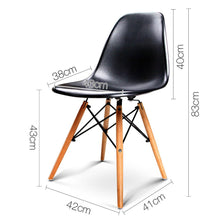 Load image into Gallery viewer, Bostin Life Set Of 4 Retro Beech Wood Dining Chair - Black Dropshipzone
