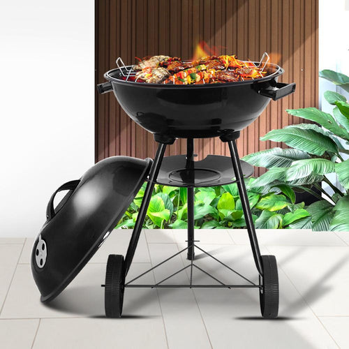 Bostin Life Grillz Charcoal Bbq Smoker Drill Outdoor Camping Patio Wood Barbeque Steel Oven
