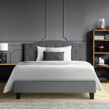 Load image into Gallery viewer, Bostin Life Bed Frame King Single Size Base Mattress Platform Fabric Wooden Grey Dropshipzone