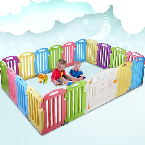 Cuddly Baby 19-Panel Plastic Playpen Kids Toddler Fence & > Gates Playpens