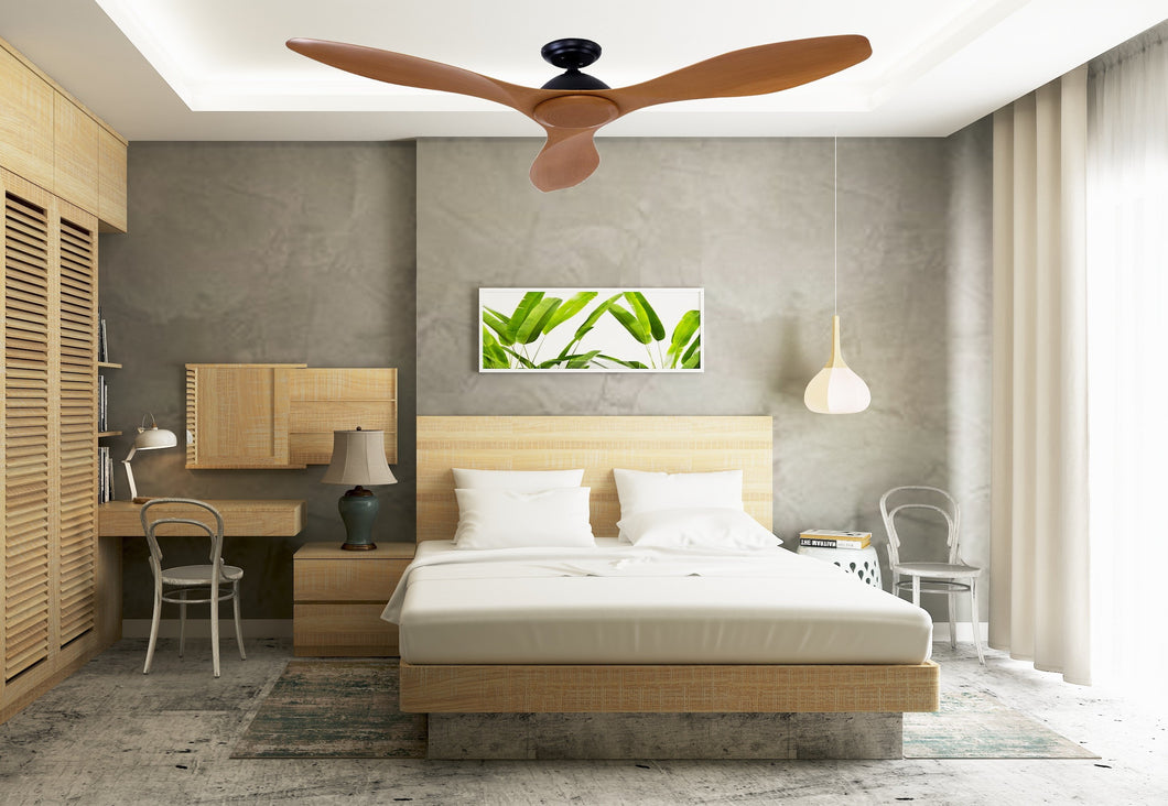 Bostin Life 48 Dc Motor Ceiling Fan With Remote 8H Timer Reverse Mode 5 Speeds Natural Dropshipzone