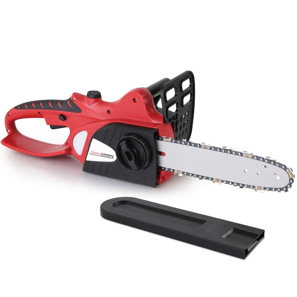 Giantz 20V Cordless Chainsaw - Black And Red Tools > Power