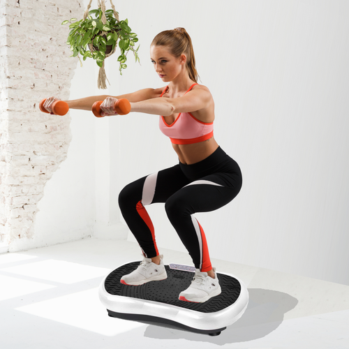 Bostin Life Vibration Plate Platform Body Shaper Home Gym Machine - White Sports & Outdoors >