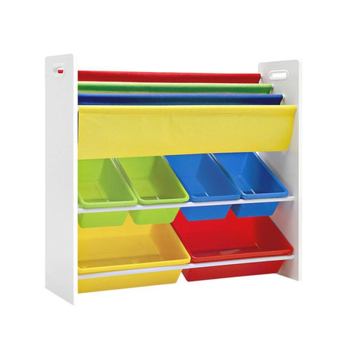 Bostin Life Keezi Kids Bookcase Childrens Bookshelf Toy Storage Organizer 3Tier Display Rack Baby &