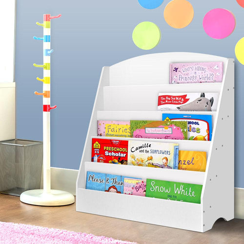 Bostin Life Keezi 5 Tiers Kids Bookshelf Magazine Rack Shelf Organiser Bookcase Display Dropshipzone