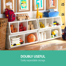 Load image into Gallery viewer, Keezi Kids Toy Box Bookshelf Storage Cabinet Stackable Bookcase Shelf Organiser