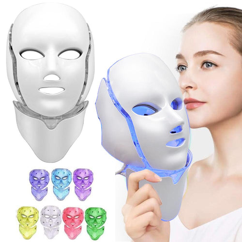 Bostin Life Led Light Photon Face And Neck Mask Rejuvenating Facial Therapy Machine With 7