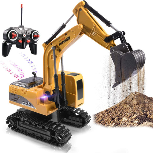 Bostin Life Remote Control Engineering Metal Excavator Charging Rc Toy Sunsky