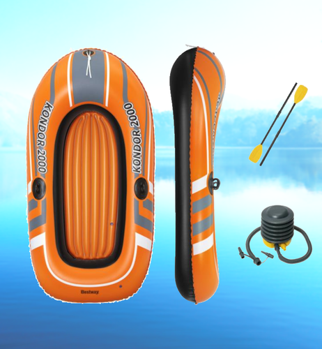 Bostin Life Kondor Inflatable Boat Float Floats Floating Water Play Pool Toy Dropshipzone