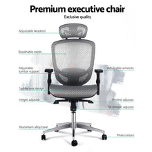 Load image into Gallery viewer, Artiss Office Chair Gaming Computer Chairs Mesh Net Seating Grey Furniture >