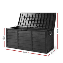 Load image into Gallery viewer, Bostin Life Giantz 290L Outdoor Storage Box Lockable Weatherproof Garden Deck Toy Shed All Black