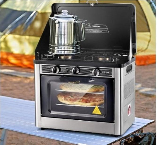 Bostin Life 3 Burner Portable Oven - Silver & Black Appliances > Kitchen