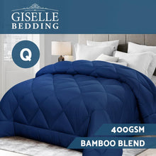 Load image into Gallery viewer, Bostin Life Bamboo Microfibre Microfiber Quilt Queen 400Gsm Duvet All Season Blue Dropshipzone
