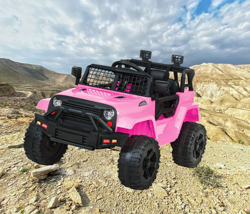 Bostin Life Kids Ride On Jeep 12V Electric Car With Remote Control - Pink Dropshipzone