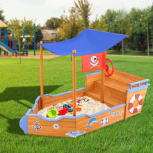 Load image into Gallery viewer, Bostin Life Keezi Pirate Ship Boat Sand Pit With Canopy Baby & Kids > Toys
