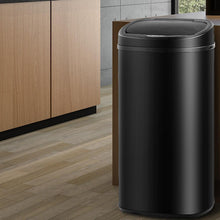 Load image into Gallery viewer, Bostin Life Black Stainless Steel Motion Sensor 68L Rubbish Bin Home & Garden > Kitchenware